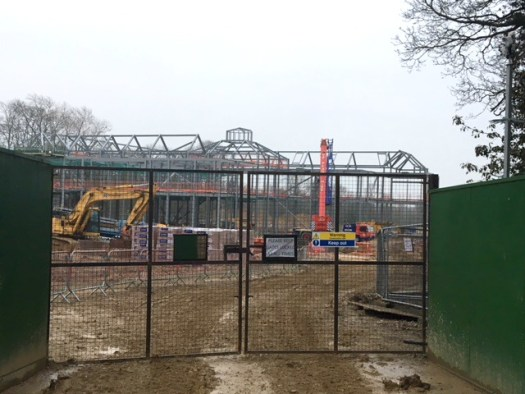 Progress with the steel frame work mid April 2018
