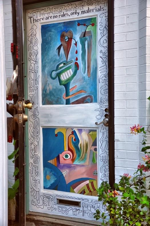 Studio door in progress.