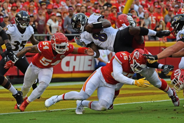 NFL scores: Ravens fail to mount comeback in 33-28 loss vs. Chiefs