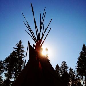 Ravenwood teepee © Great Falls Tribune