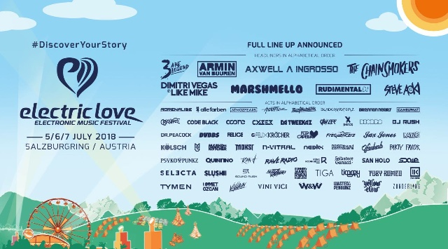 Electric Love 2018, Electric Love Line Up 2018, Electric Love Festival, EDM Festival,