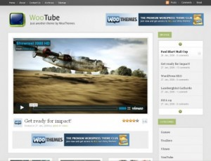 Woo tube Premium wordpress themes from Woo Themes
