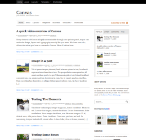 canvas premium wordpress themes for magazine sites from woo themes