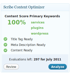 Scribe SEO analysis ready content