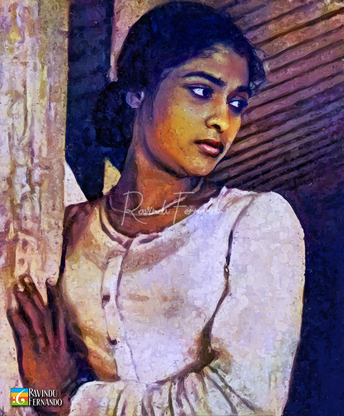Punya Heendeniya Digital Oil Painting by Ravindu Fernando