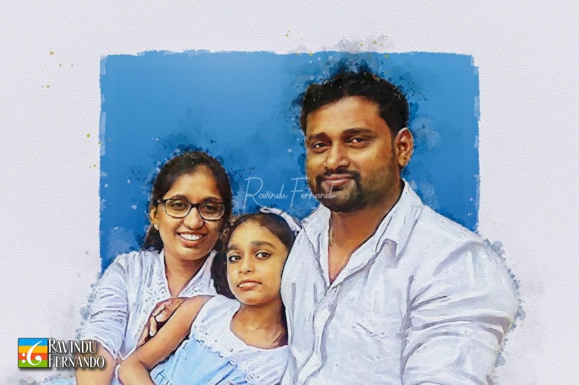 Family - Digital Watercolor Painting