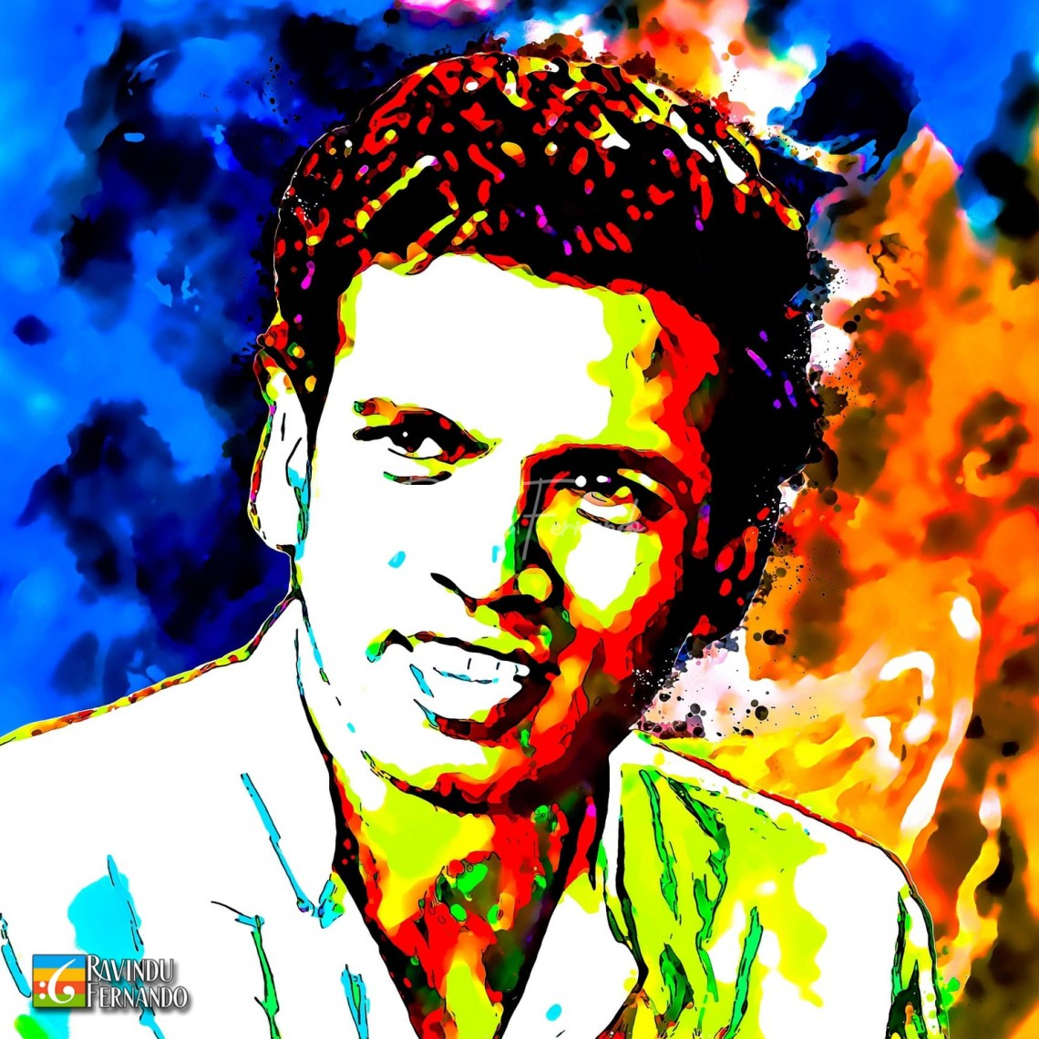 Maithripala Sirisena - Digital Watercolor Painting