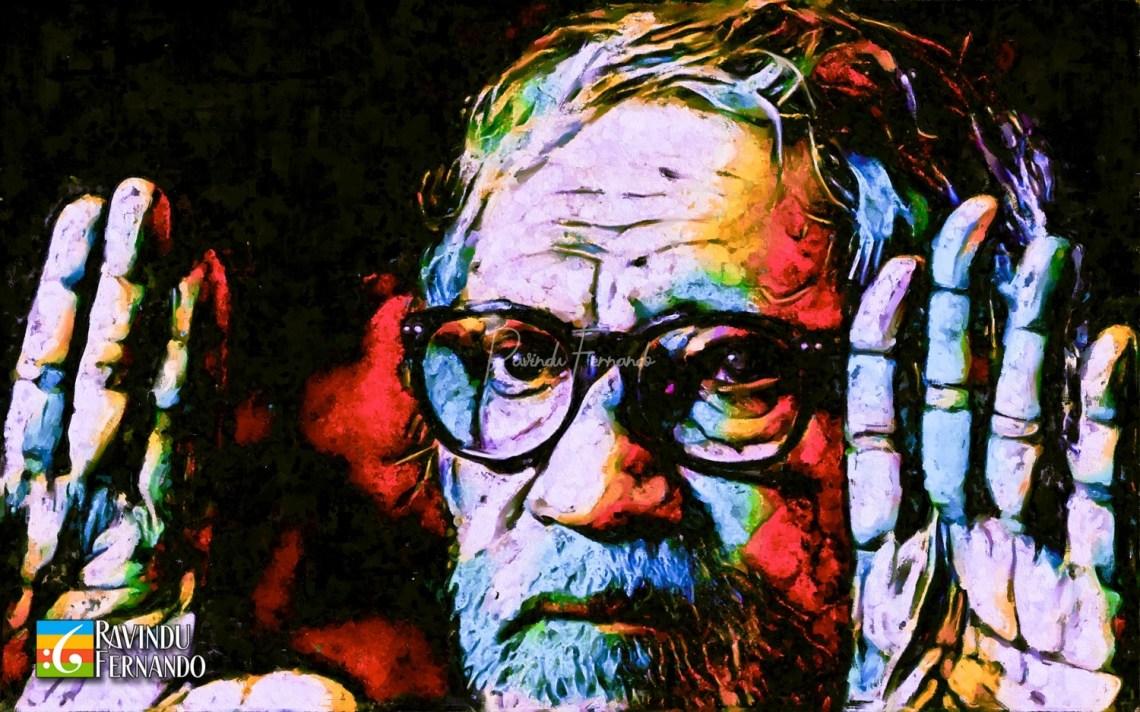 Dharmasena Pathiraja Digital Oil Painting by Ravindu Fernando