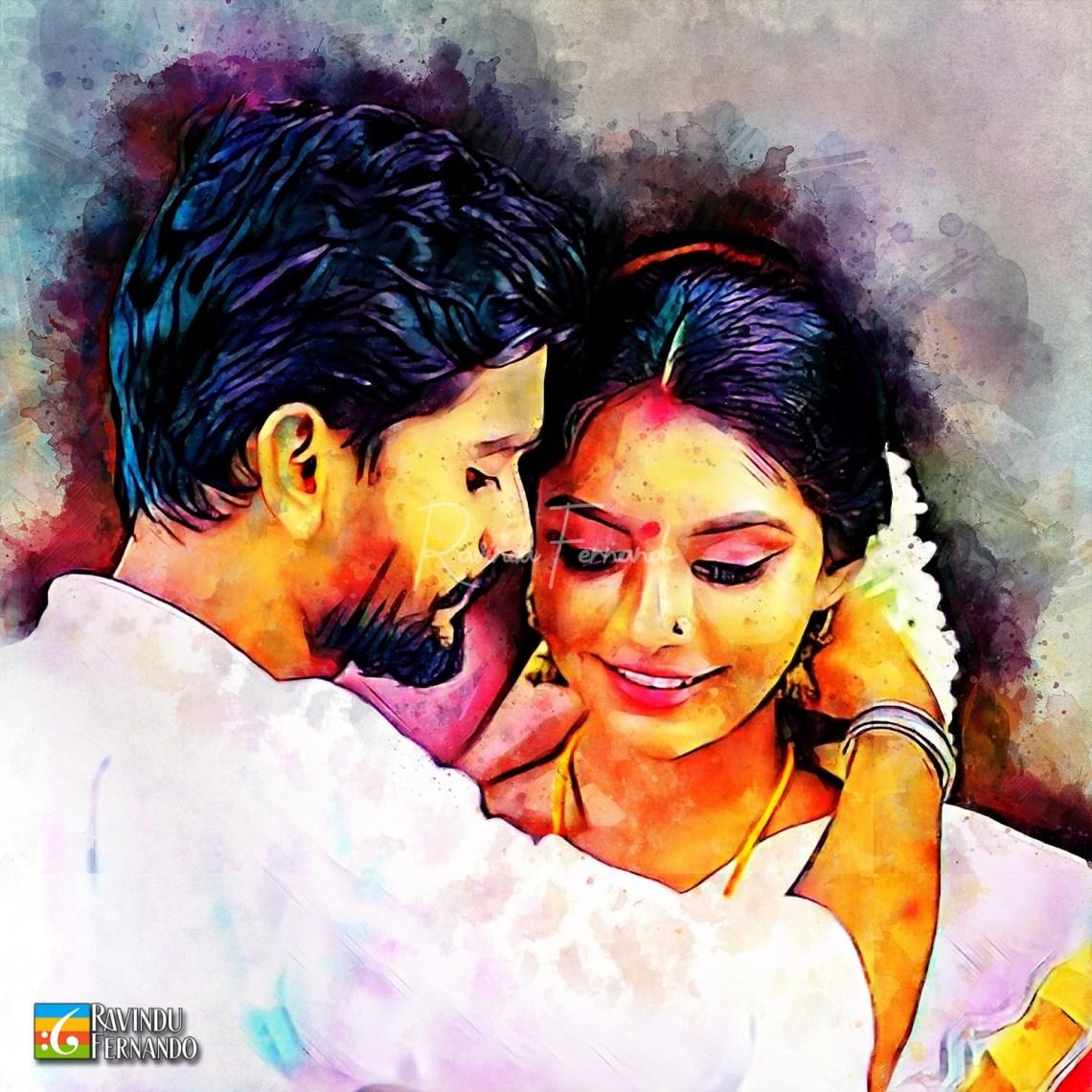 Randika Gunathilake and Yashodha Rasanduni - Digital Watercolor Painting