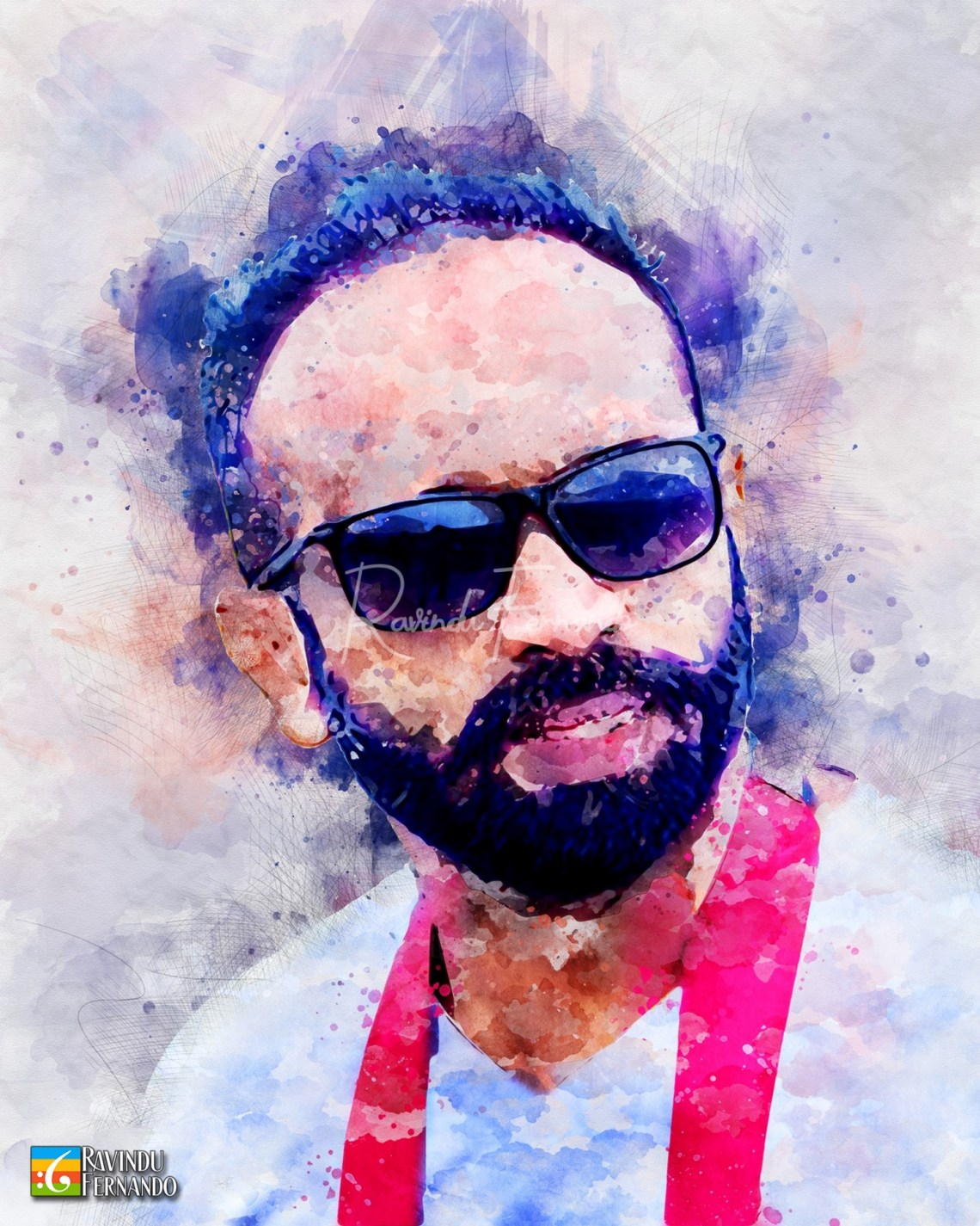 Sasika Ruwan Marasinghe - Digital Watercolor Painting