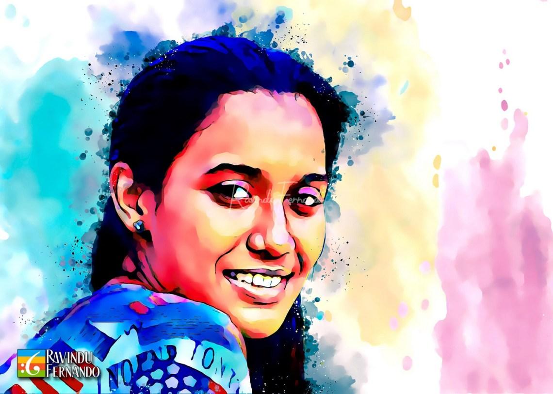 Dilshani Chathurika Dabare - Digital Watercolor Painting