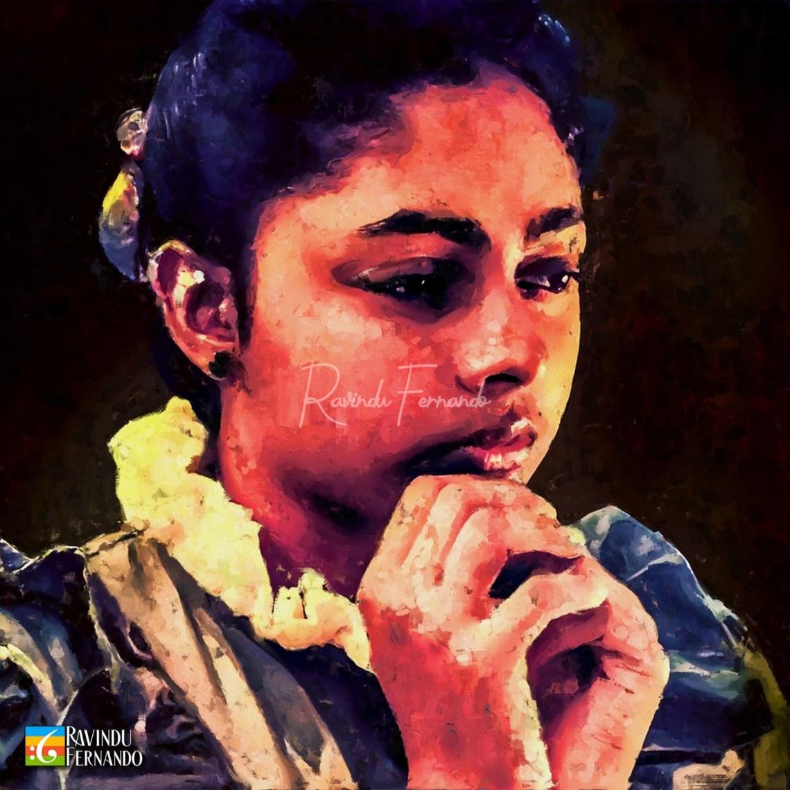 Vajira Kumari Withanage Digital Oil Painting by Ravindu Fernando