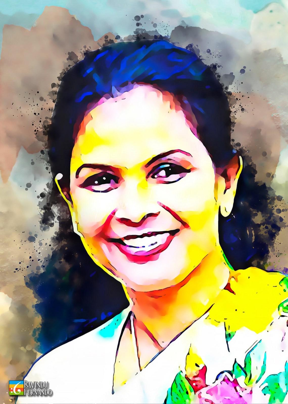 Sithara Pavithrani Costa - Digital Watercolor Painting