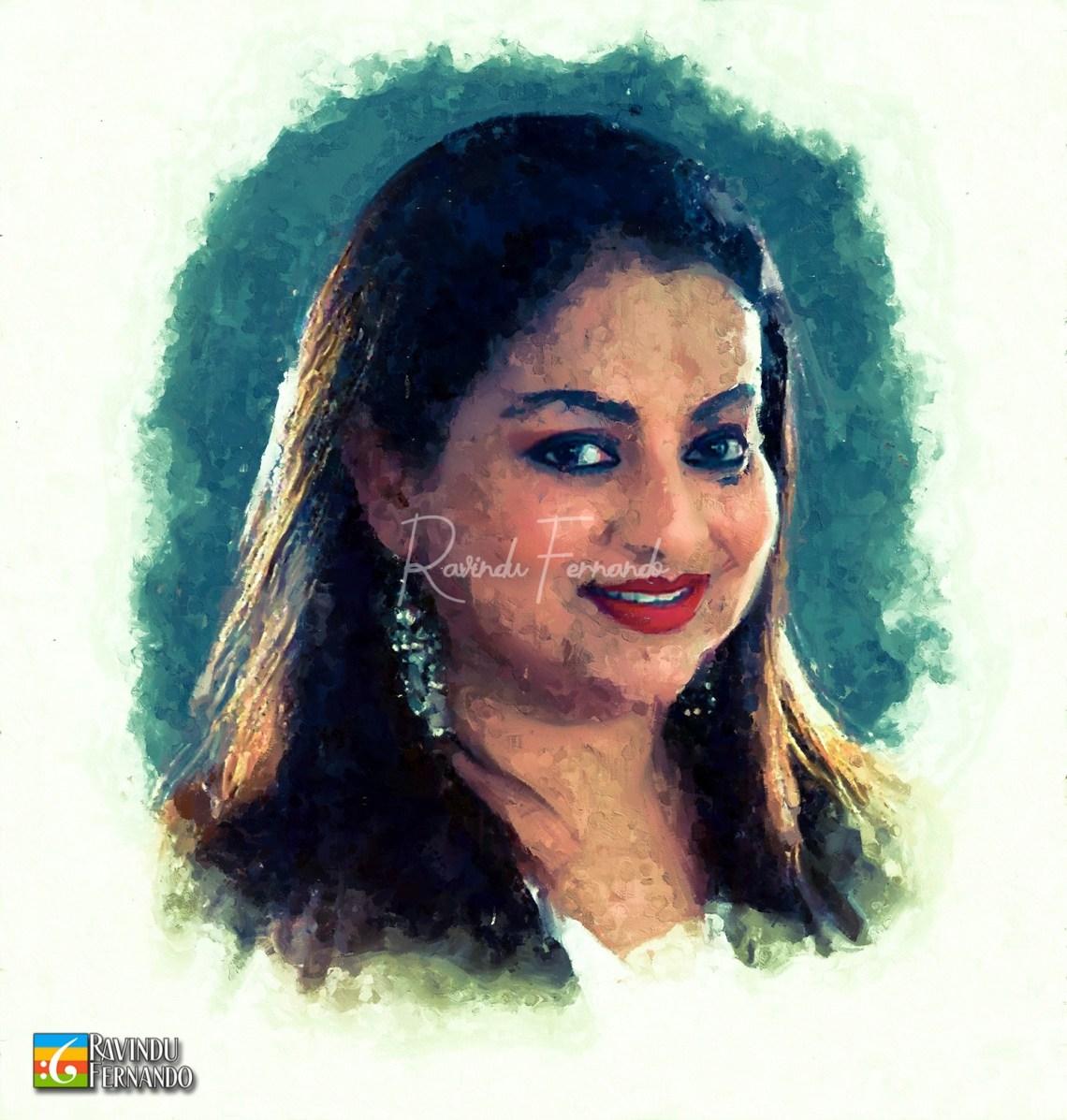 Samitha Mudunkotuwa Digital Oil Painting by Ravindu Fernando