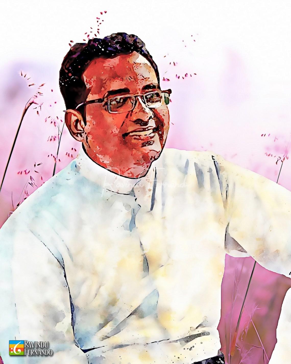 Fr. Rumain Perera - Digital Watercolor Painting