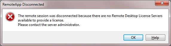 Server 2012 RDS: No Remote Desktop License Servers Available