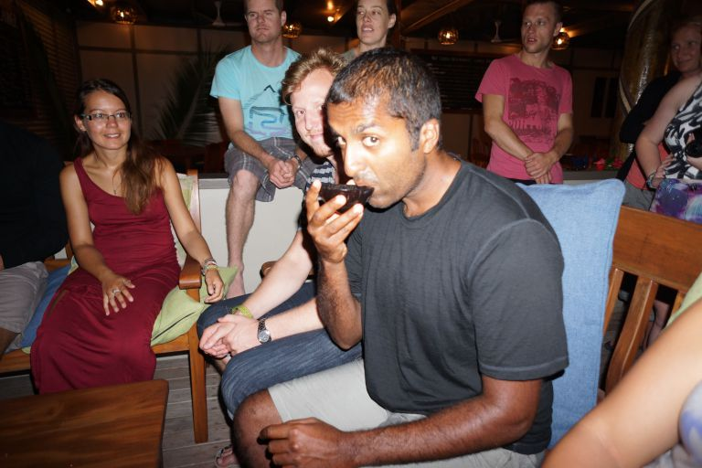 Partaking in a Kava ceremony in Fiji
