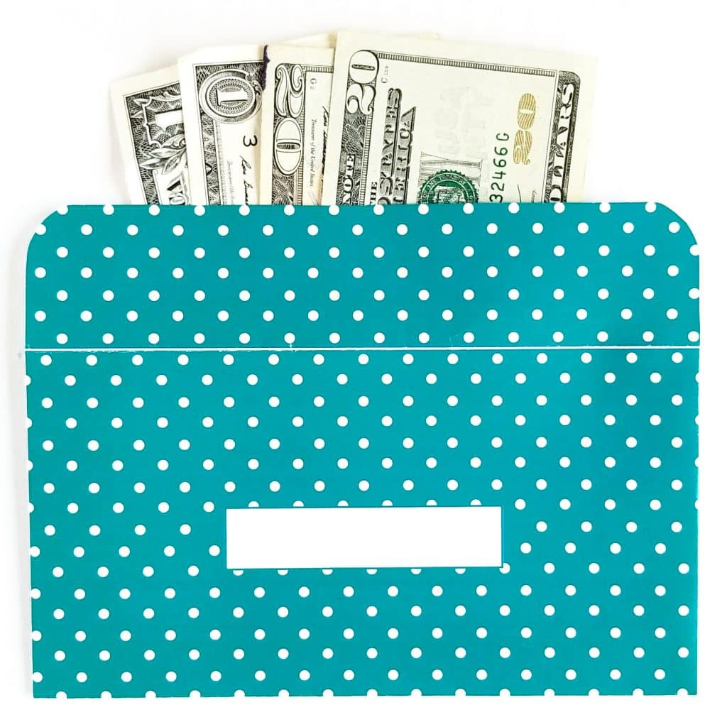 Polka Dot Design Horizontal Cash Envelopes Printable