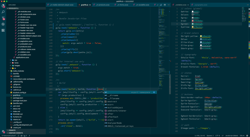 VS Code Better Solarized Dark ScreenShot