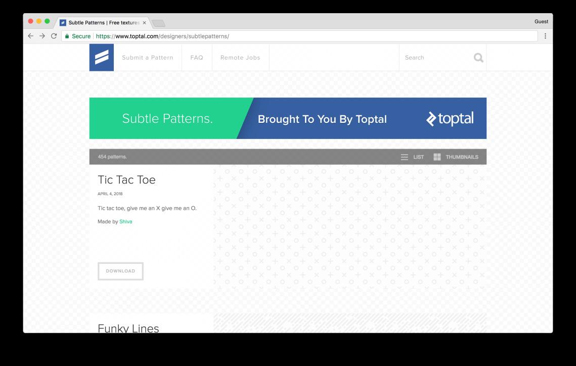 toptal.com/designers/subtlepatterns