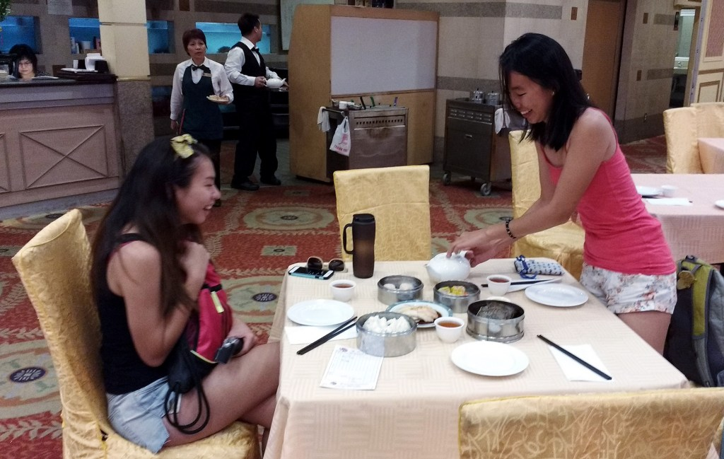 having dim sum breakfast at 888 Seafood in New Taipei, CA (Rosemead, CA)