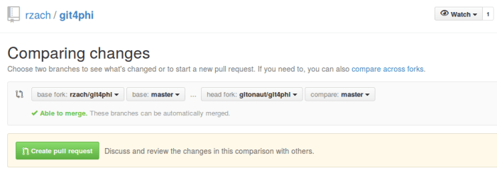 Creating pull request