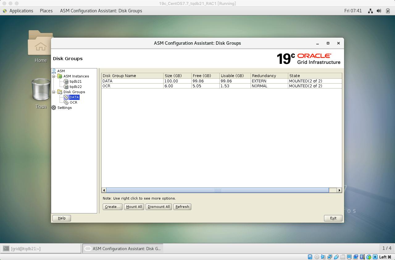 19cRACasmca创建DATA磁盘组08