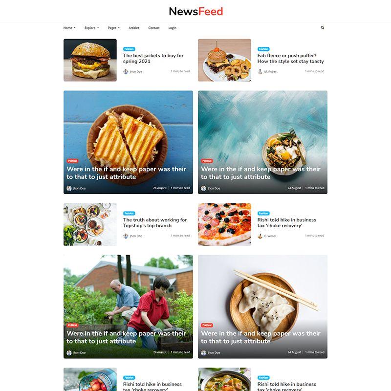 Newsfeed - Responsive News Magazine Bootstrap 5 Jekyll Theme - 3
