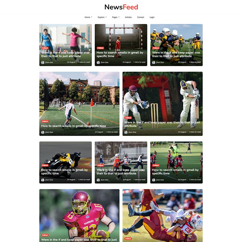 Newsfeed - Responsive News Magazine Bootstrap 5 Jekyll Theme - 2