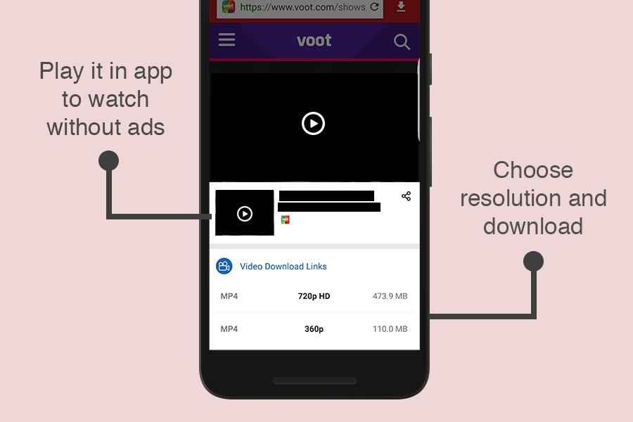 Download Voot videos in HD resolutions