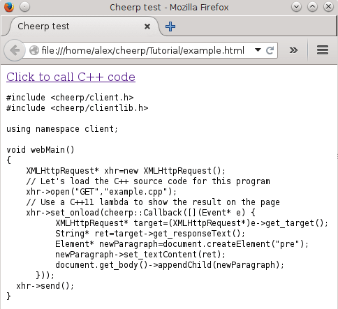 Cheerp Tutorial · leaningtech/cheerp-meta Wiki · GitHub