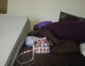 Pillows and mattress