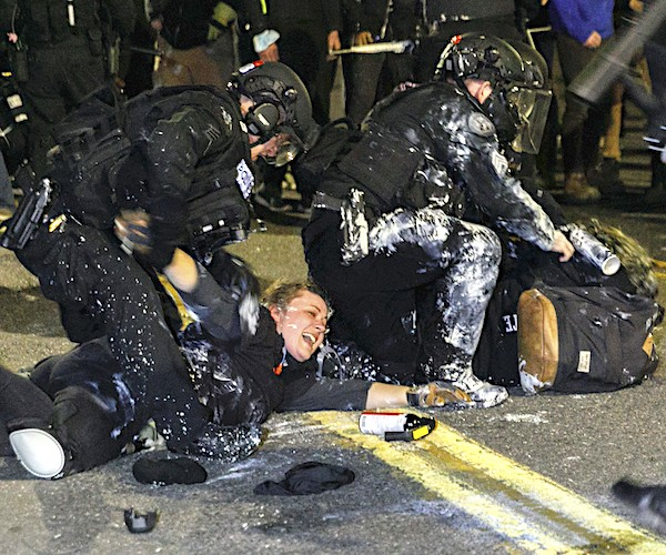 Daily riots and protests have entered a seventh consecutive week in Portland, Oregon, including a clash that lasted into Tuesday morning in which demonstrators and cops faced off for hours at a police union building in a North Portland neighborhood.- rawconservativeopinions