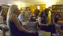 A rapt audience at Kafe Kerouac