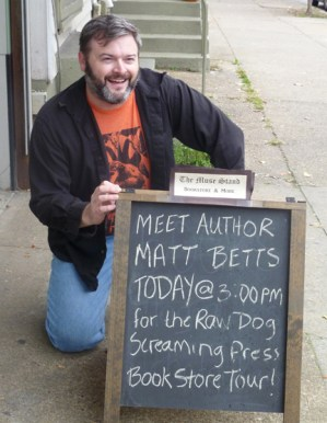 Matt Betts at The Muse Book Stand