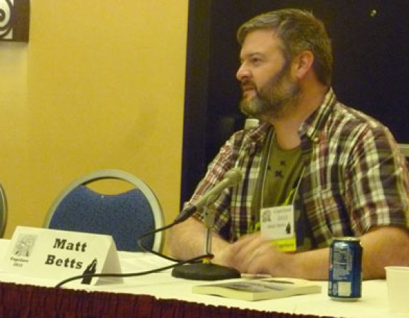 Matt Betts answering panel questions