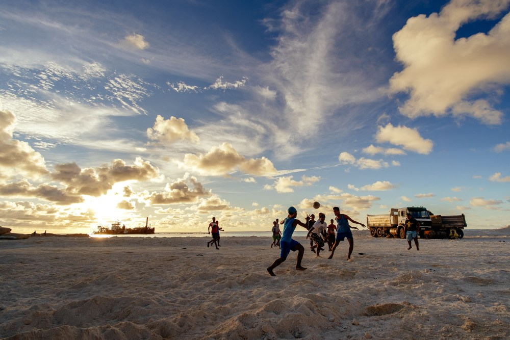 Rugby on the beach is now a possibility for the children of Fogafale