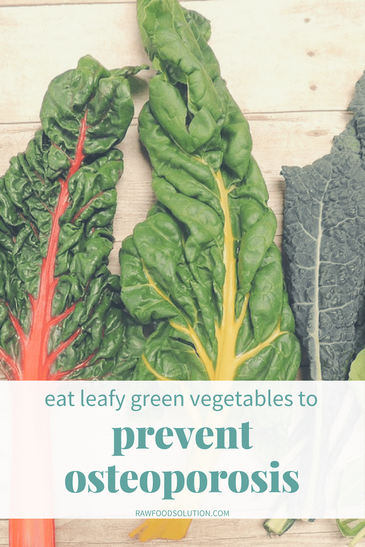 A Vitamin Contained In Leafy Green Vegetables Eat leafy green vegetables to prevent osteoporosis raw food solution in addition to a generous amount of calcium and magnesium leafy greens also provide potassium which prevents calcium loss as well as vitamins workwithnaturefo