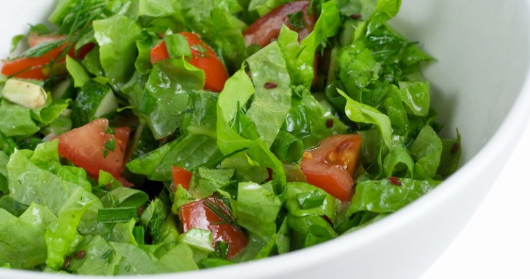 Green Salad with Honey Mustard Balsamic Dressing