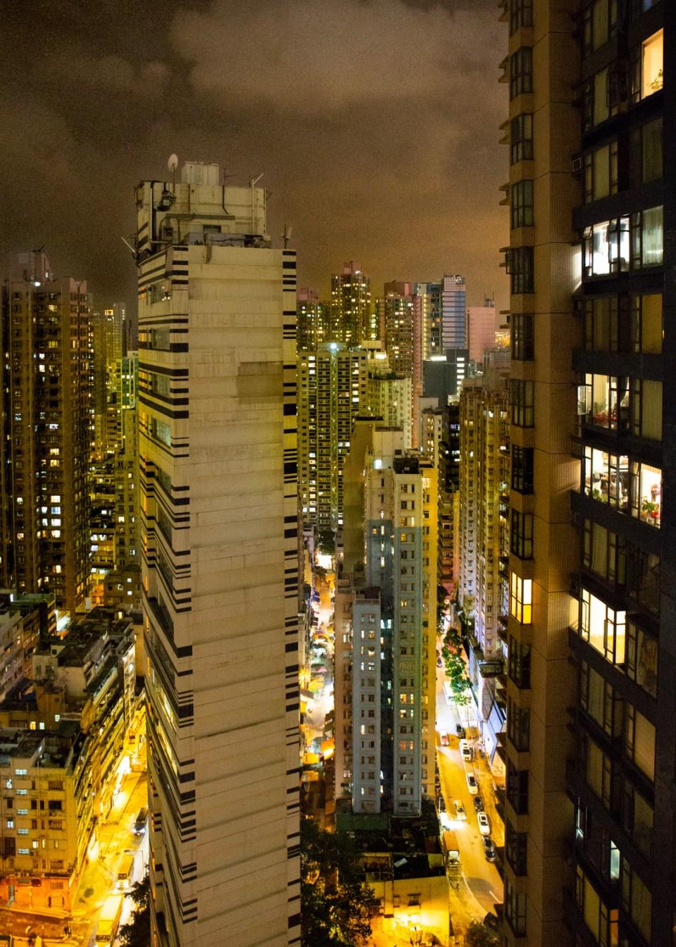 Hong Kong sunset dark