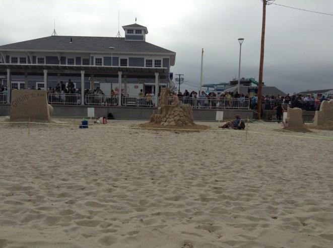 hampton beach, sand sculptures, summer, fun, author blog, books, am writing, am reading, beach, ocean, waves,