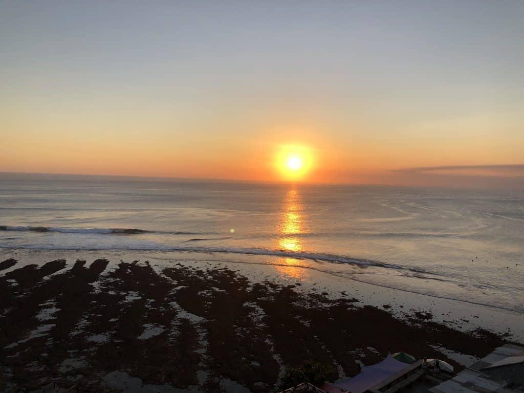 Sunset view from single fin uluwatu