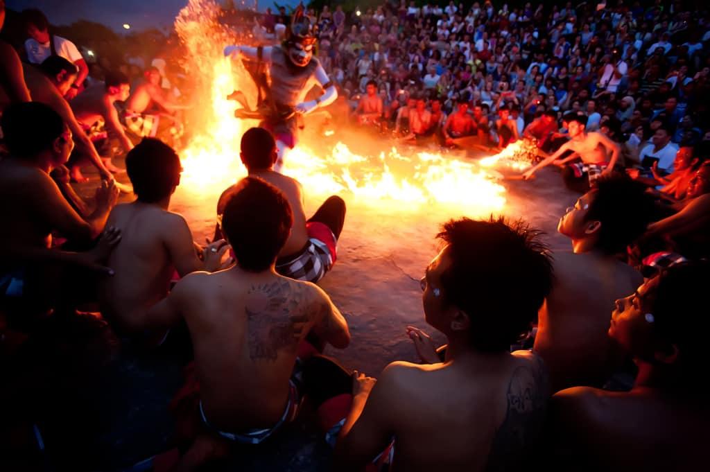 kecak, balinese traditional dance performance