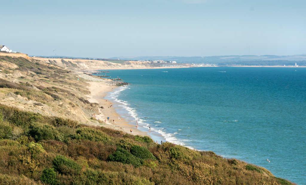 Highcliffe beach UK