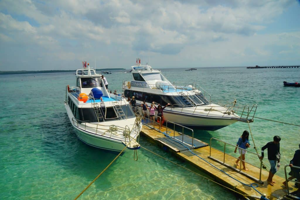 Arriving Pier on Nusa Penida, toya pakeh