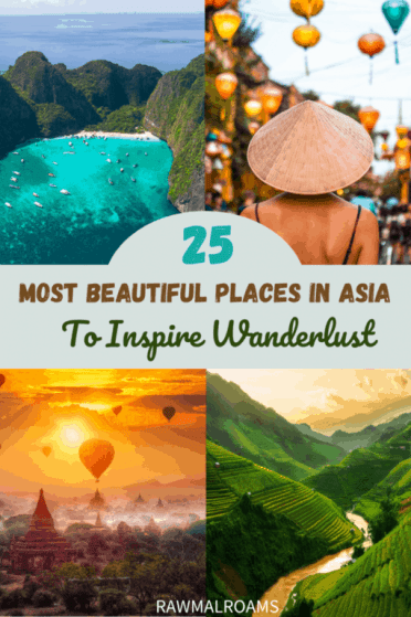 Get Inspired with this most beautiful places in Asia! #asia #traveldestinations #traveltips #bucketlisttravel #travelideas #travelguide #amazingdestinations #traveltheworld
