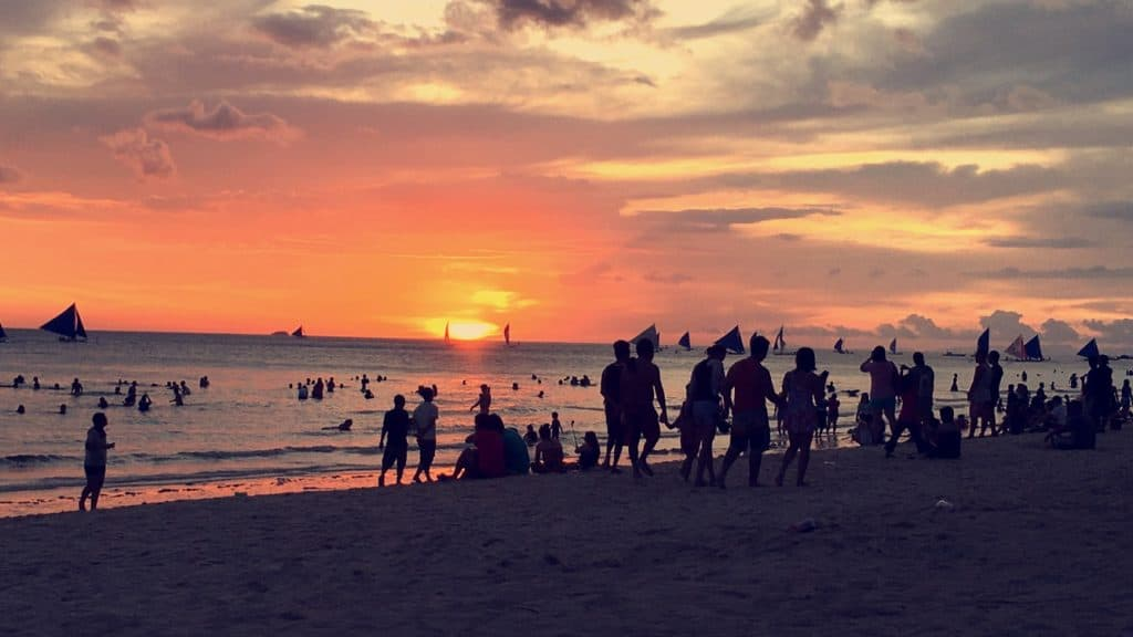 Boracay sunset, the Philippines