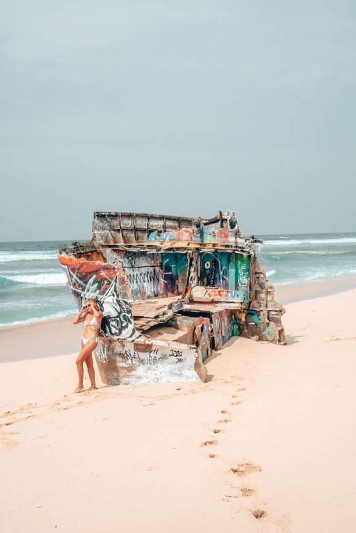 nyang nyang beach shipwreck
