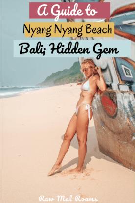 A Complete Guide to Bali's Hidden Gem - Nyang Nyang Beach | #nyangnyangbeach #balibeach #uluwatubeaches #bali #indonesia