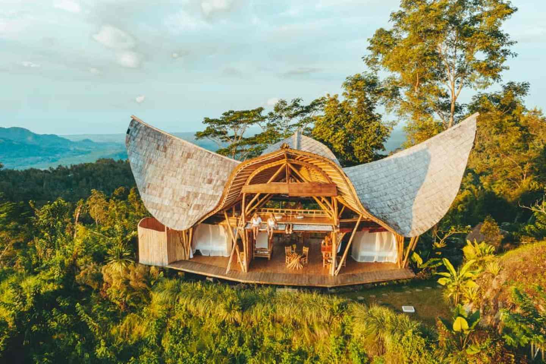 laputa sidemen bali, bamboo house in bali, hotel sidemen
